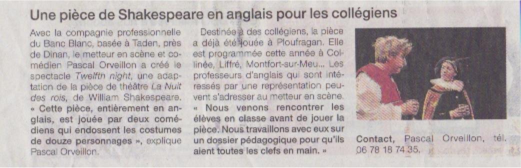 ouest france du 5 oct 2013